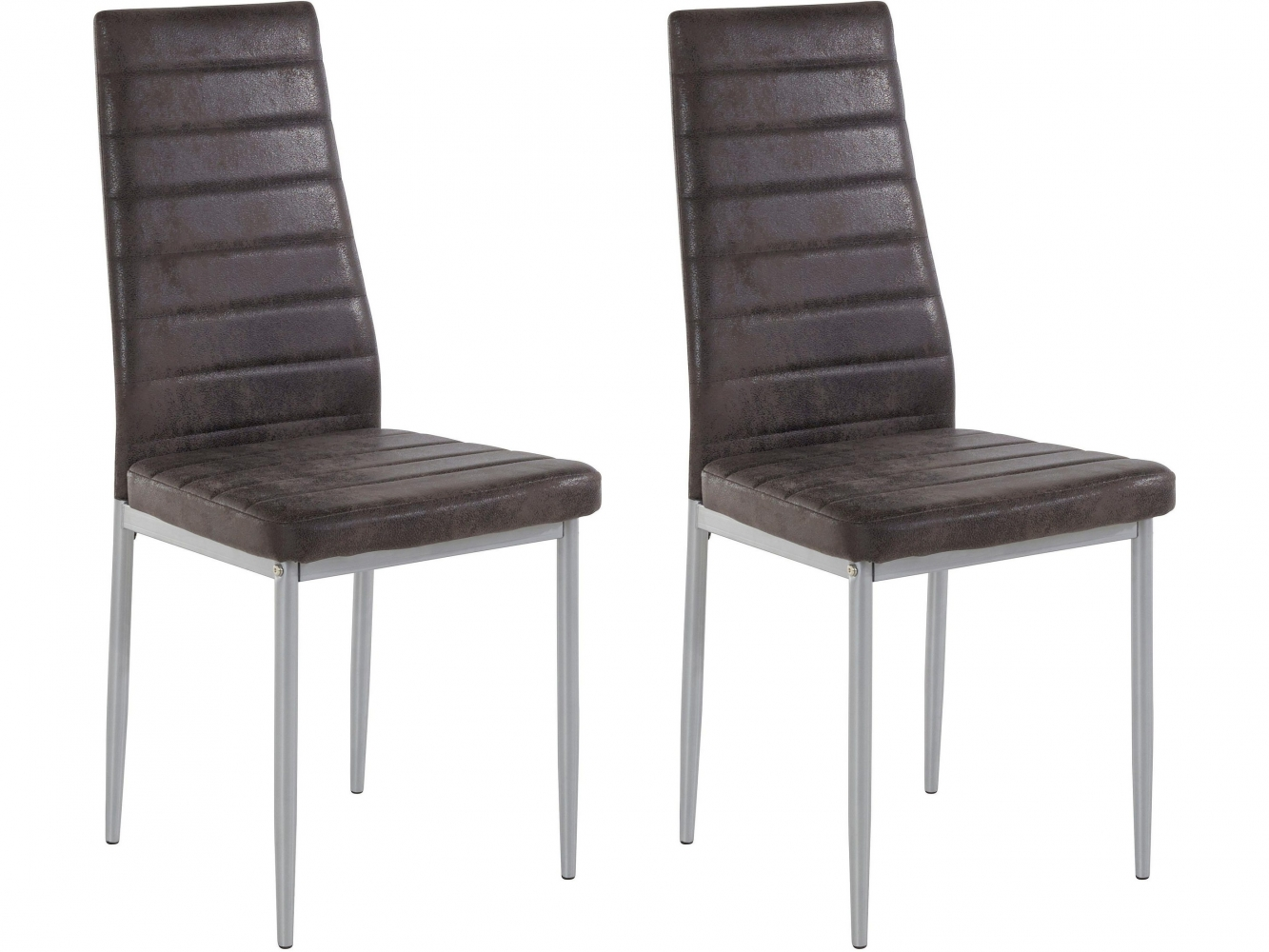 Jídelní židle Kiki (SET 2 ks), antracitová