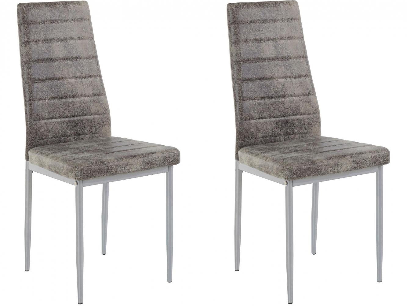 Jídelní židle Kiki (SET 2 ks), světle šedá