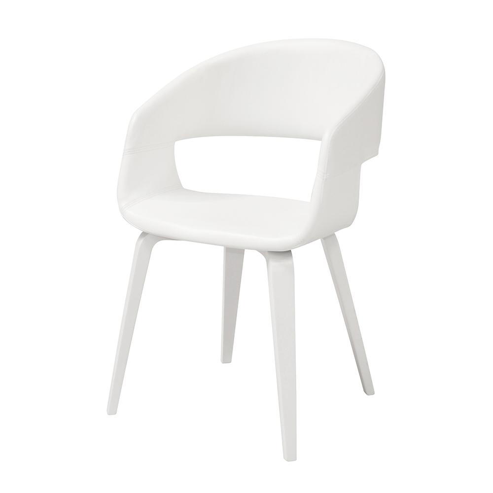 Jídelní židle Kimberly (SET 2 ks), bílá / bílá