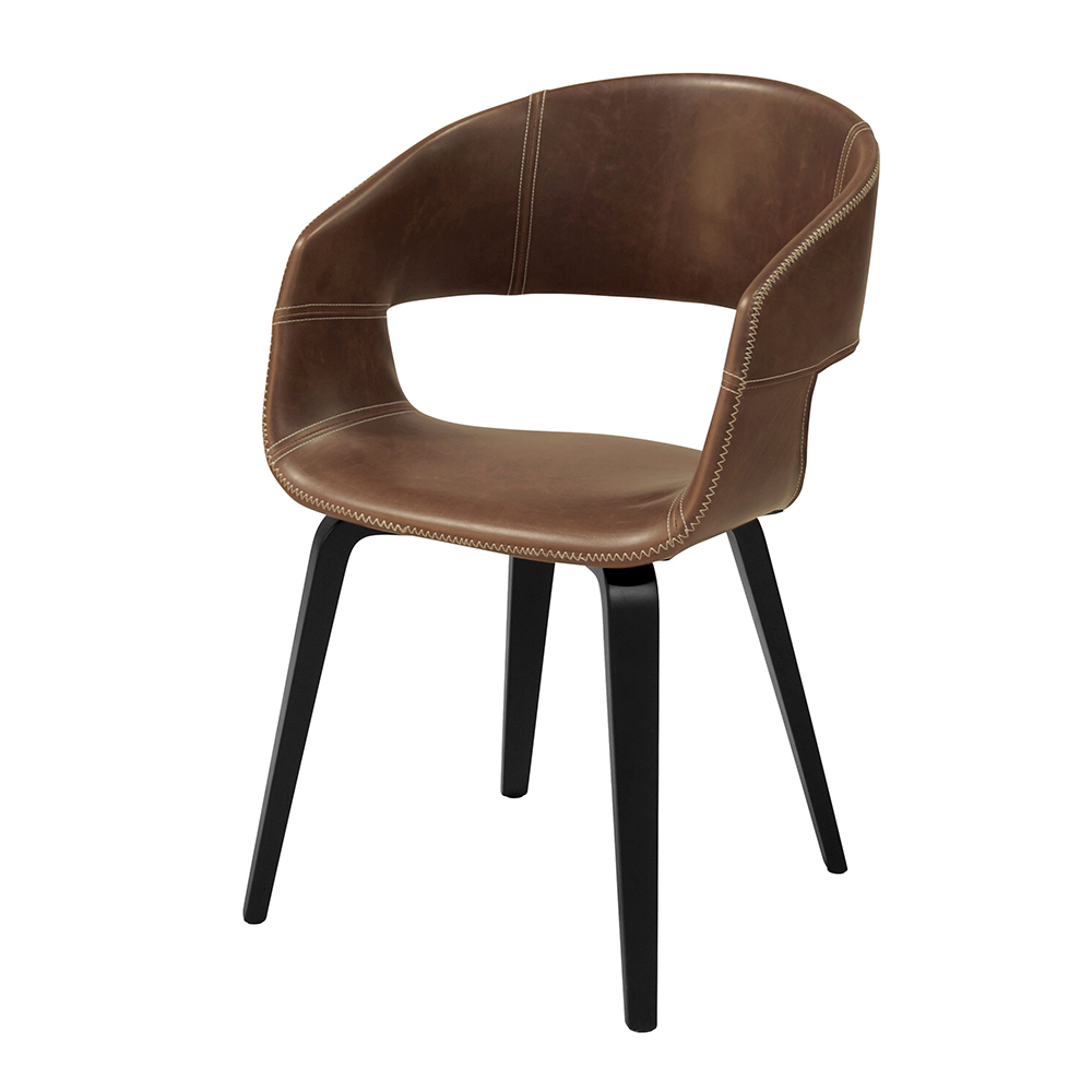 Jídelní židle Kimberly (SET 2 ks), černá/hnědá
