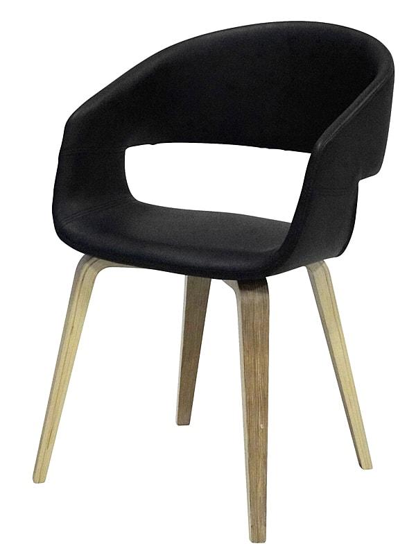 Jídelní židle Kimberly (SET 2 ks) dub / černá