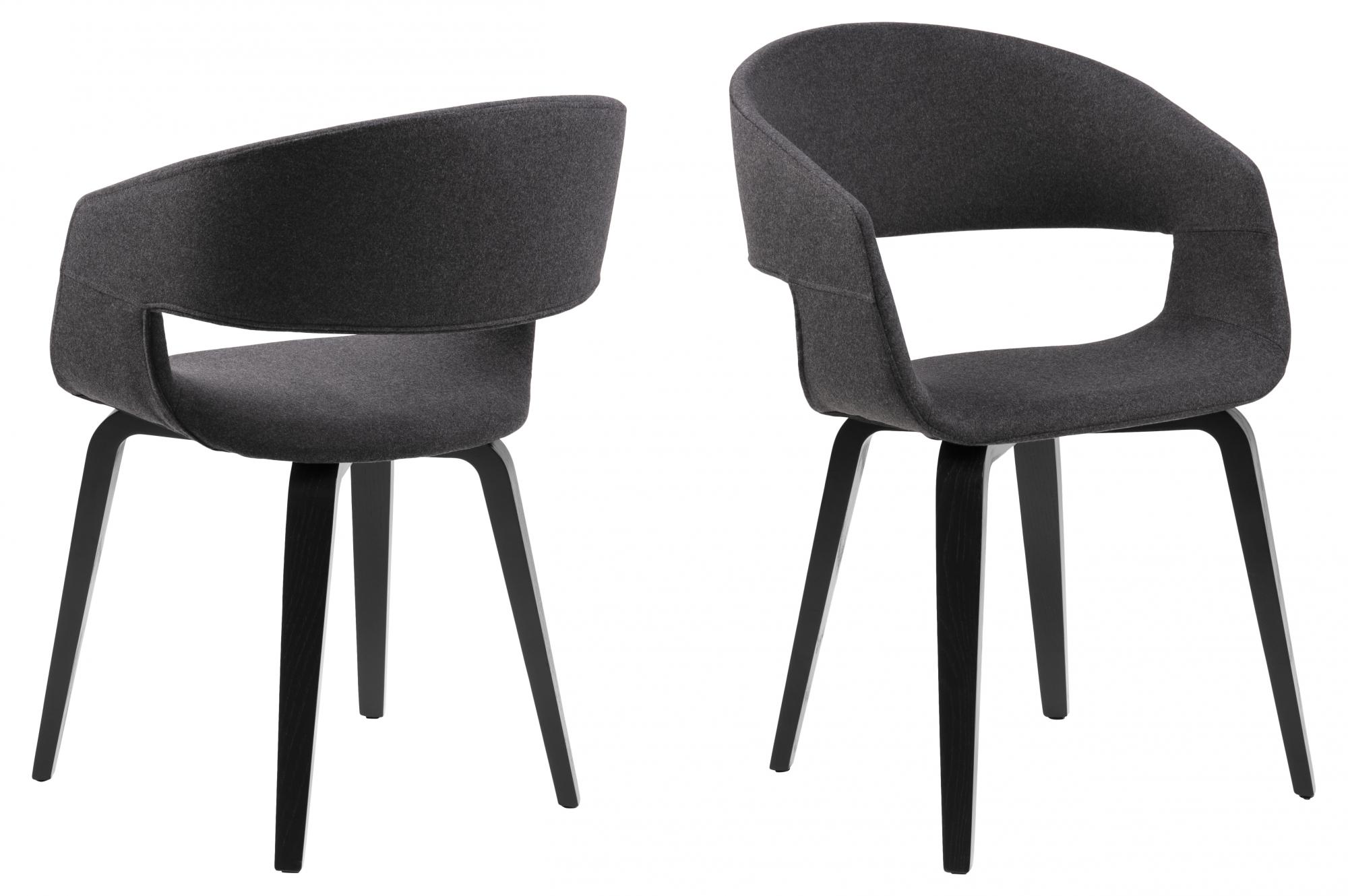 Jídelní židle Kimberly (SET 2 ks), šedá/černá