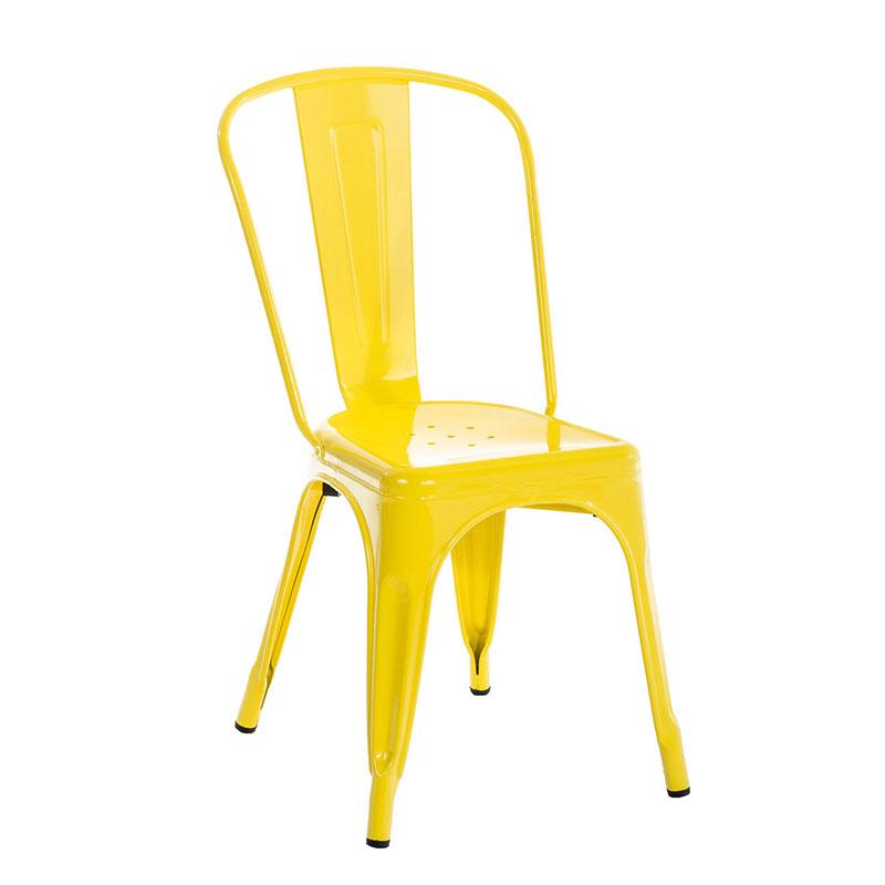 Jídelní židle kovová Direct zelená