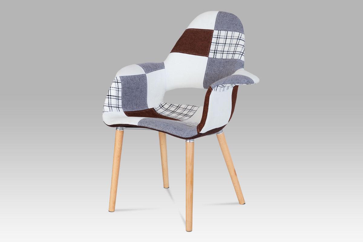 Jídelní židle Linh patchwork (SET 2 ks), barevná