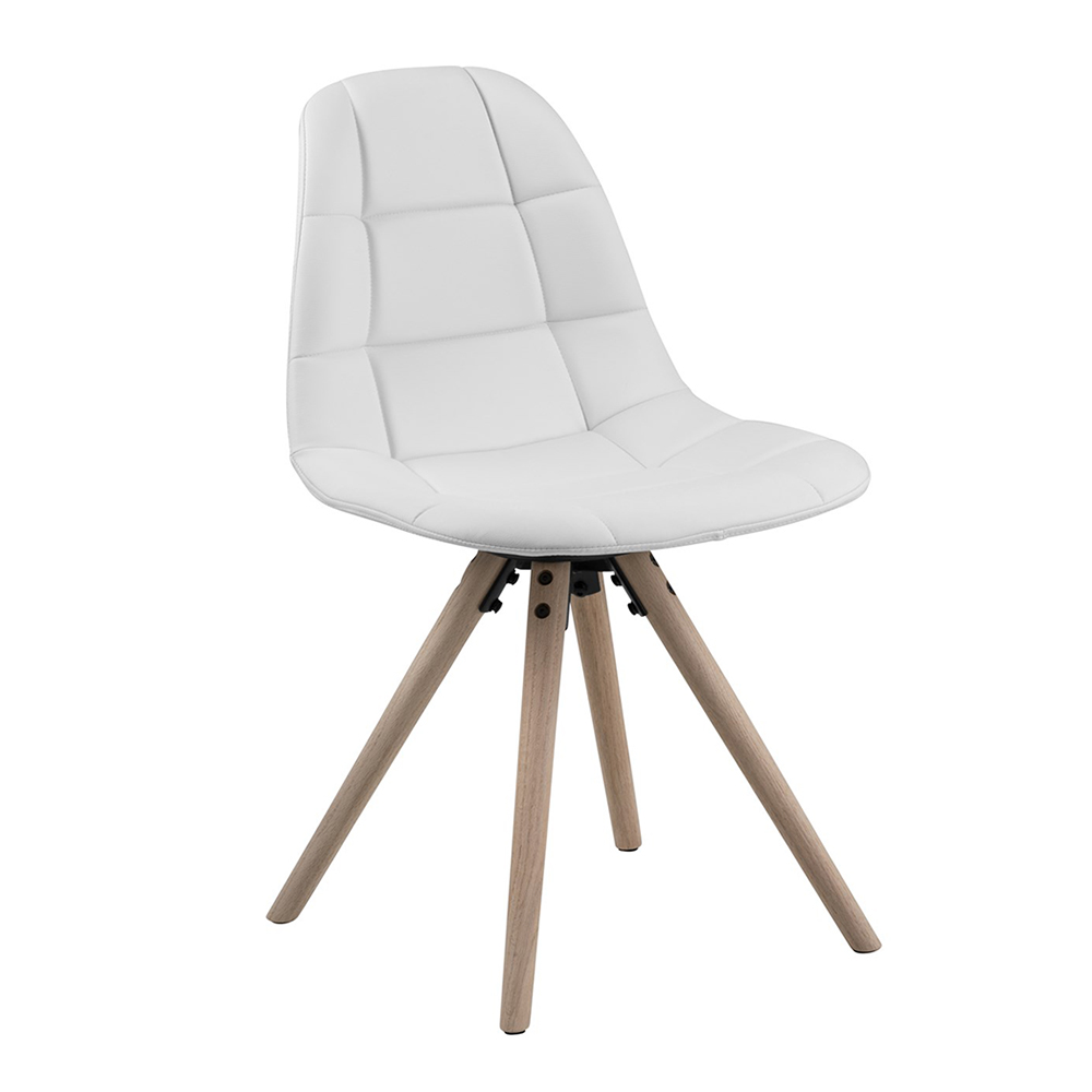 Jídelní židle Lotto (SET 4 ks), bílá