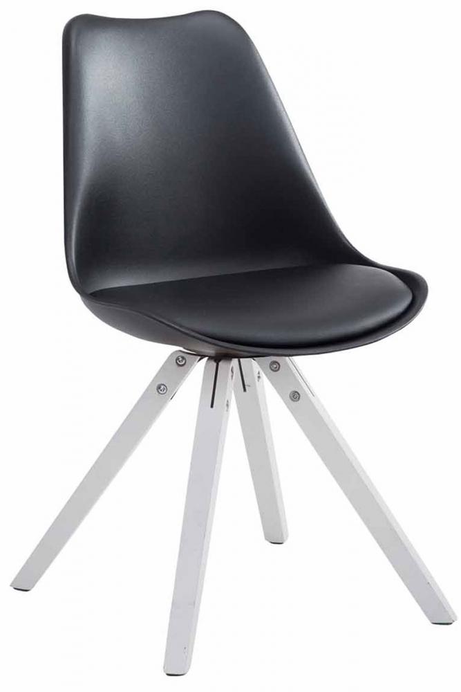 Jídelní židle Louse, černá / stříbrná