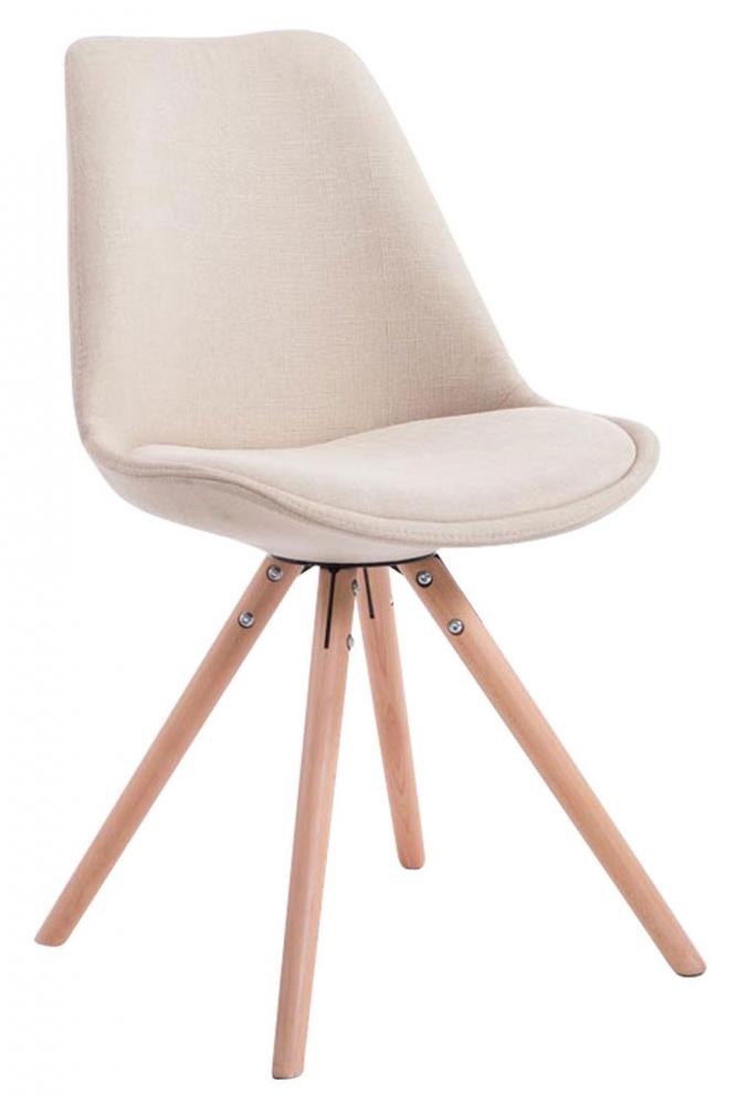 Jídelní židle Louse, krémová / dřevo