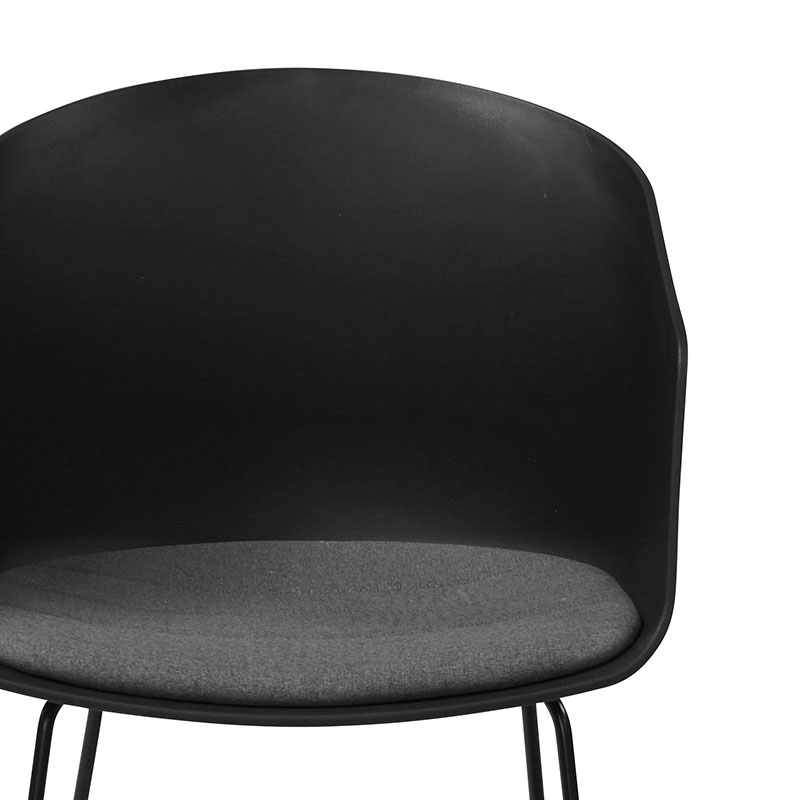 Jídelní židle Lumia 40 (SET 2 ks), černá/šedá