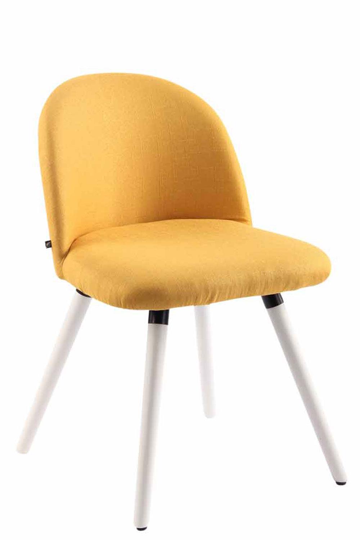 Jídelní židle Mandel textil, bílé nohy hnědá