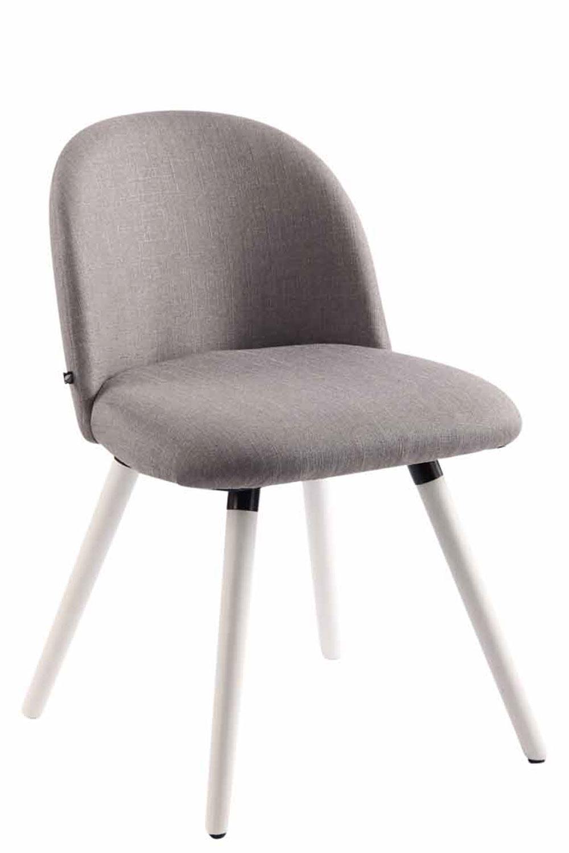Jídelní židle Mandel textil, bílé nohy