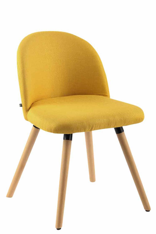 Jídelní židle Mandel textil, přírodní nohy tmavě šedá