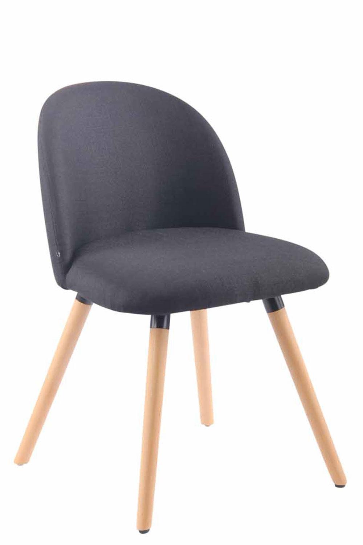 Jídelní židle Mandel textil, přírodní nohy černá