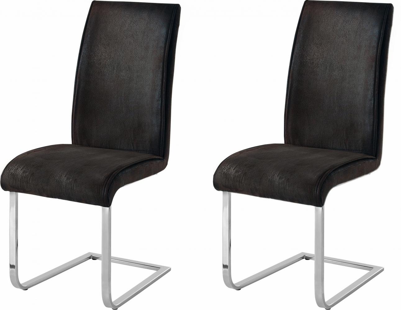 Jídelní židle Mant (SET 2 ks), antracitová