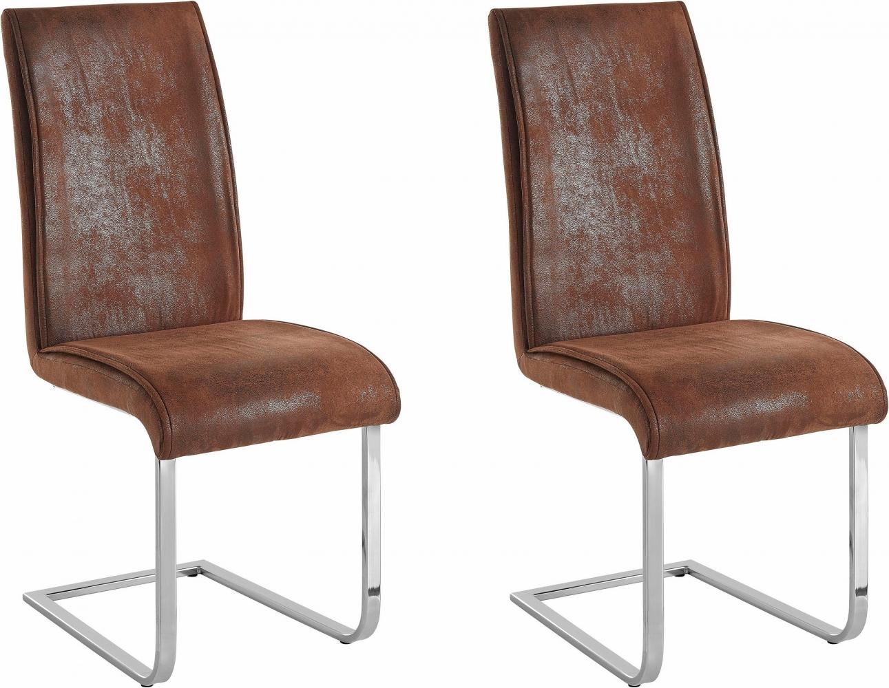 Jídelní židle Mant (SET 2 ks), hnědá