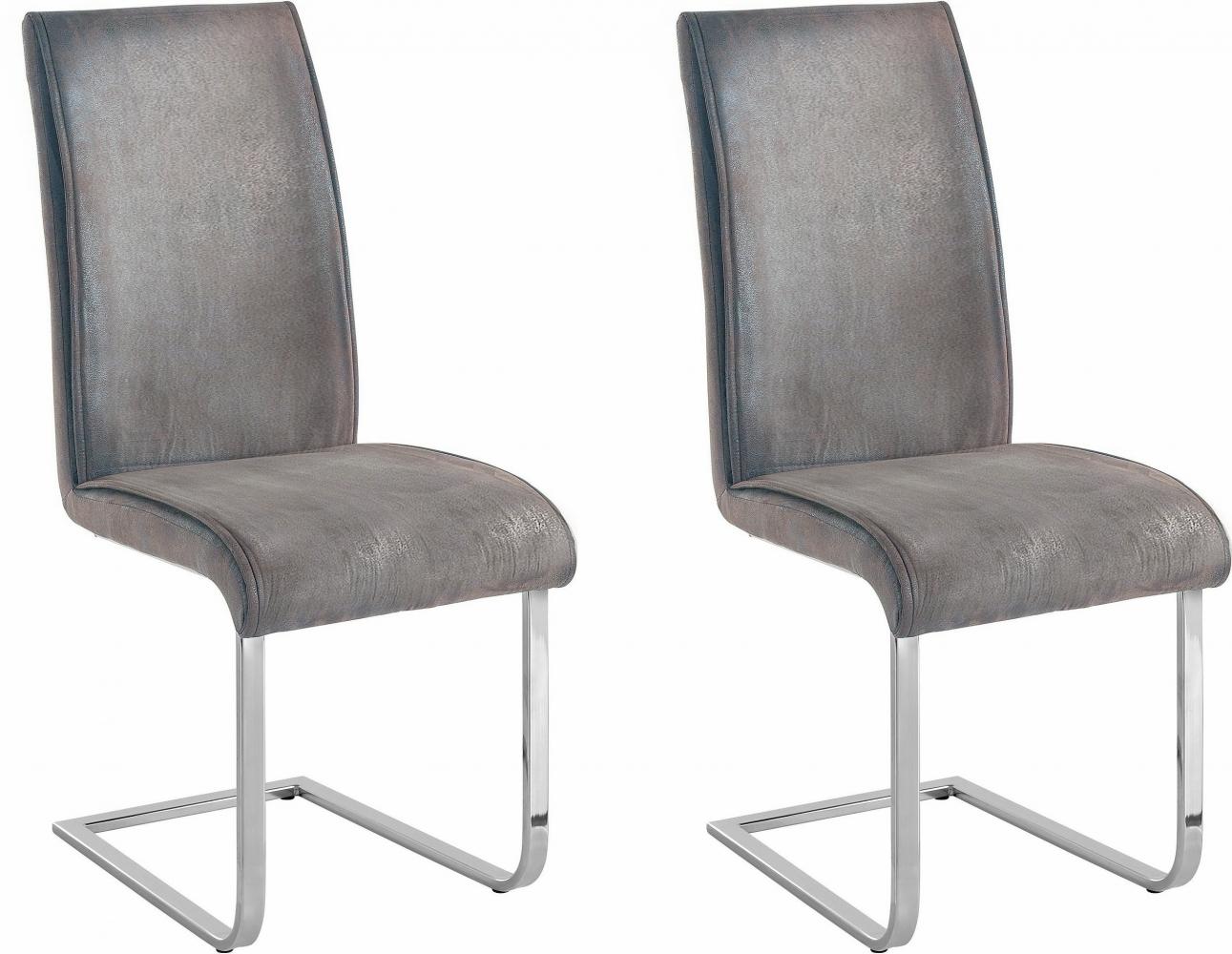 Jídelní židle Mant (SET 2 ks), světle šedá