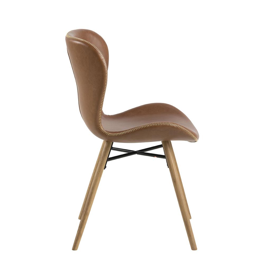 Jídelní židle Matylda (SET 2 ks), vintage koňaková