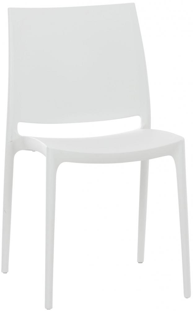 Jídelní židle May, bílá