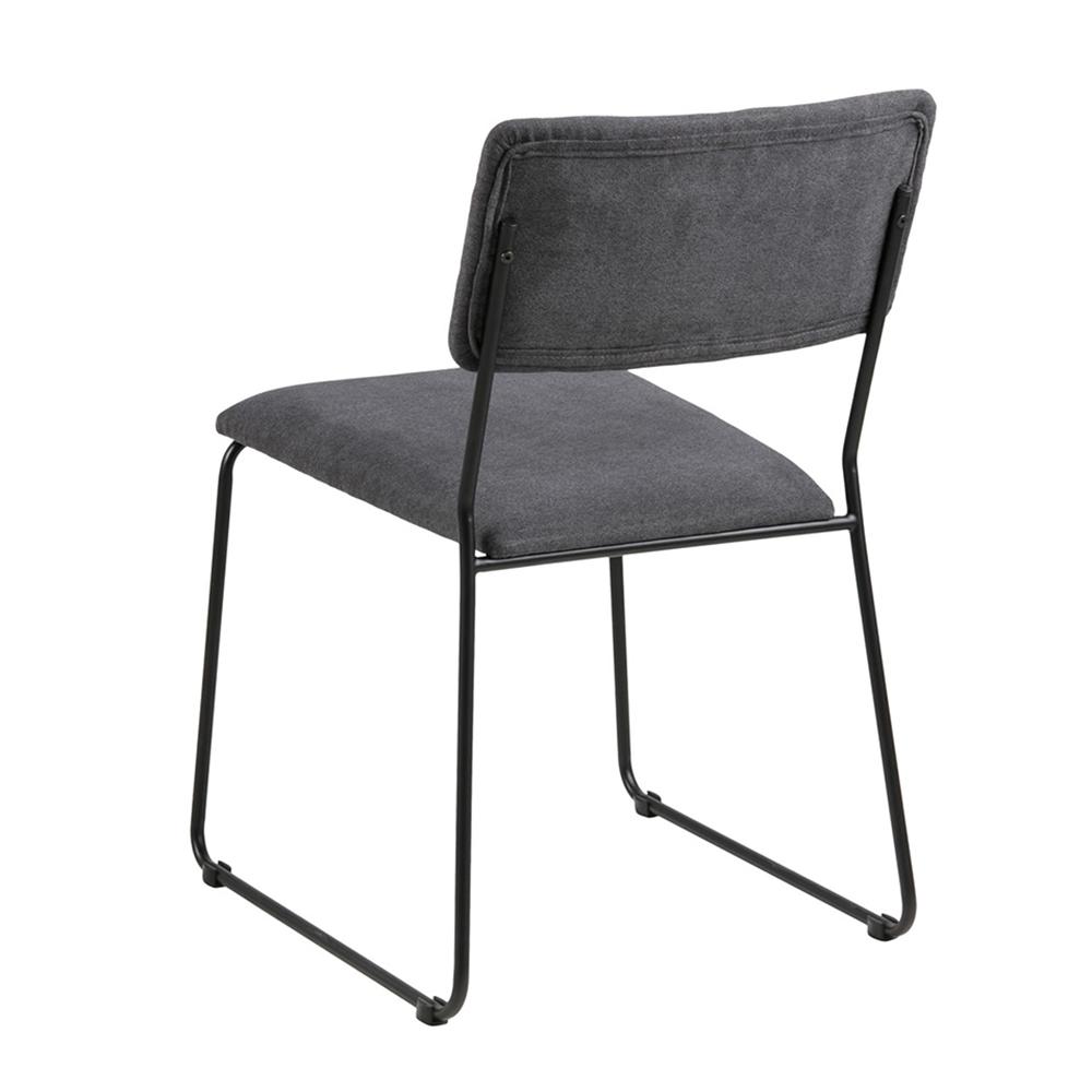 Jídelní židle Melodi (SET 2 ks), antracitová