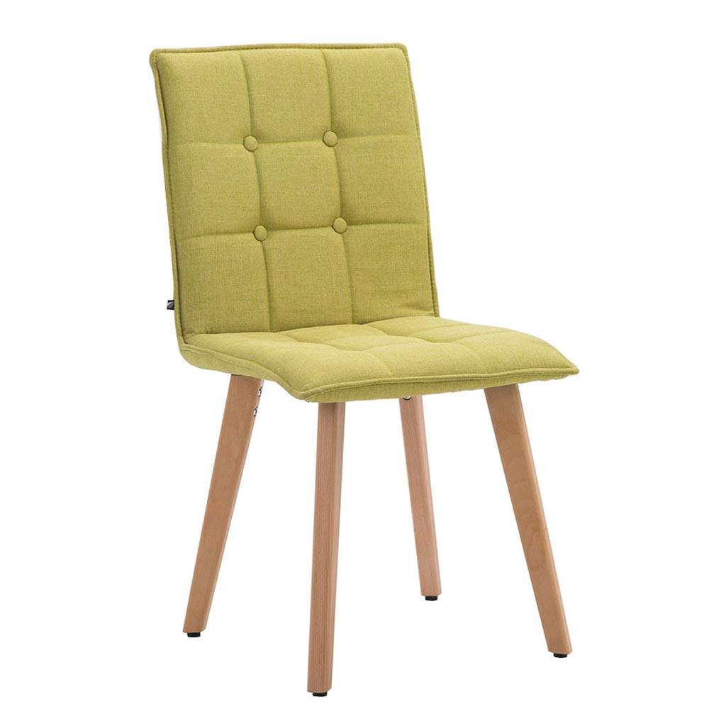 Jídelní židle Miriam textil, přírodní zelená