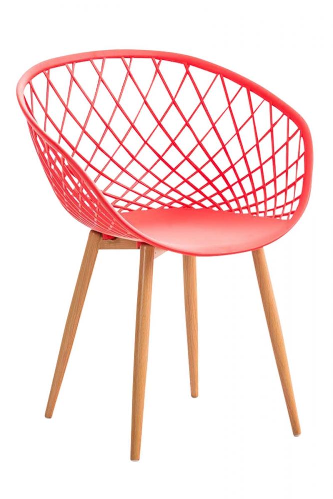 Jídelní židle Mora, červená