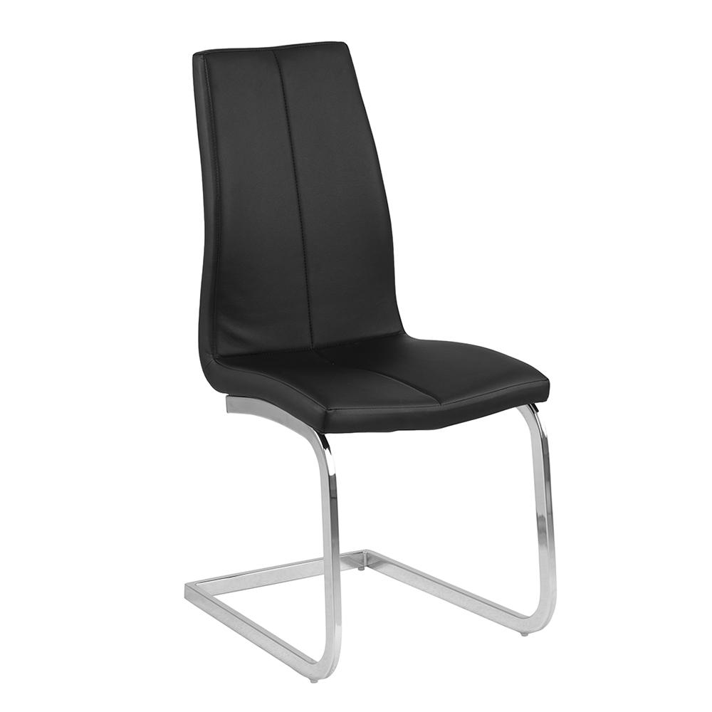 Jídelní židle na pérové podnoži Salome (SET 2 ks), černá