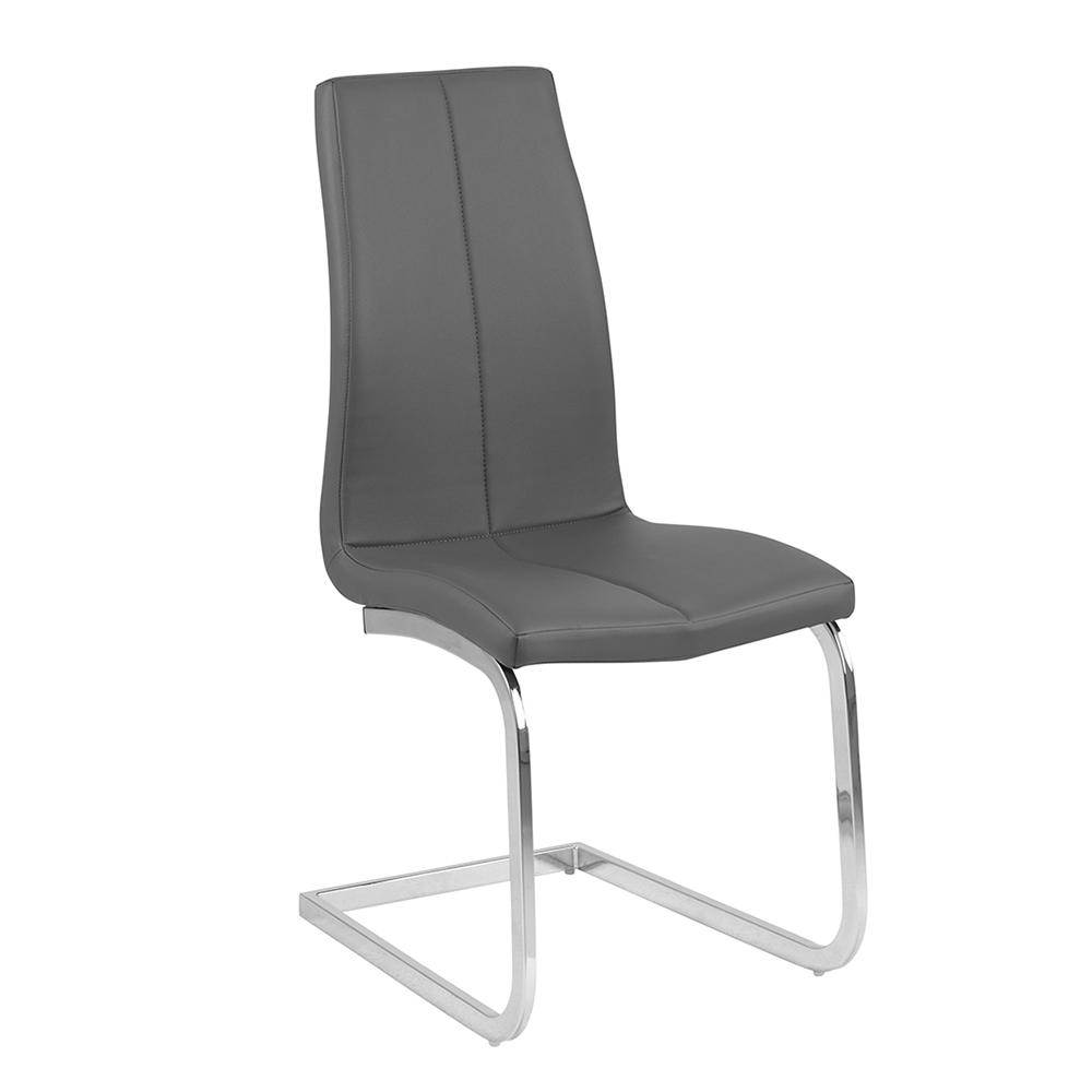 Jídelní židle na pérové podnoži Salome (SET 2 ks), šedá