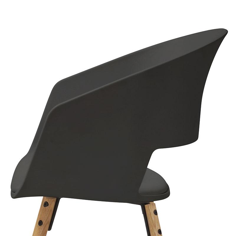 Jídelní židle Nadja (SET 2 ks), černá