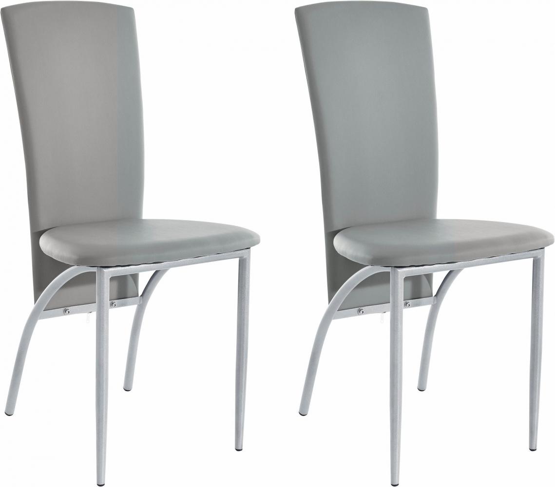Jídelní židle Nelso (SET 2 ks), šedá