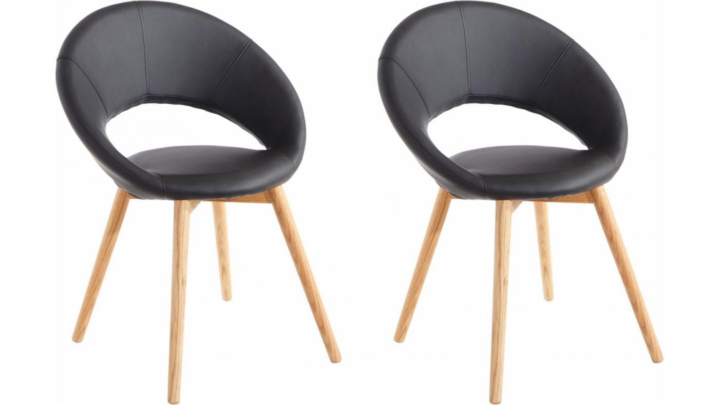 Jídelní židle Oregi (SET 2 ks), černá