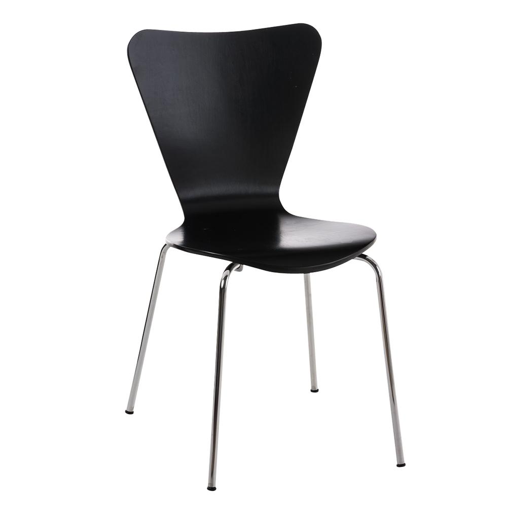 Jídelní židle překližková Cyrus černá