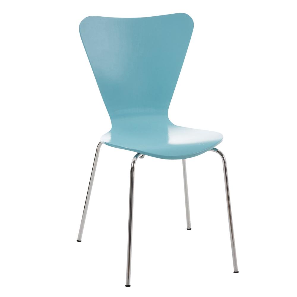Jídelní židle překližková Cyrus světle modrá