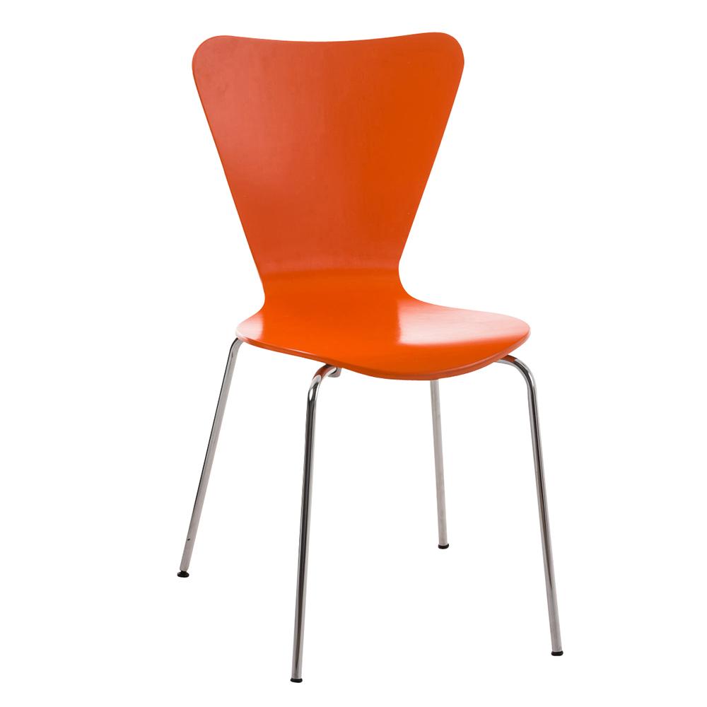 Jídelní židle překližková Cyrus oranžová
