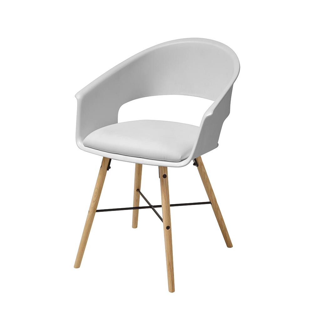 Jídelní židle Riva (SET 4 ks), bílá