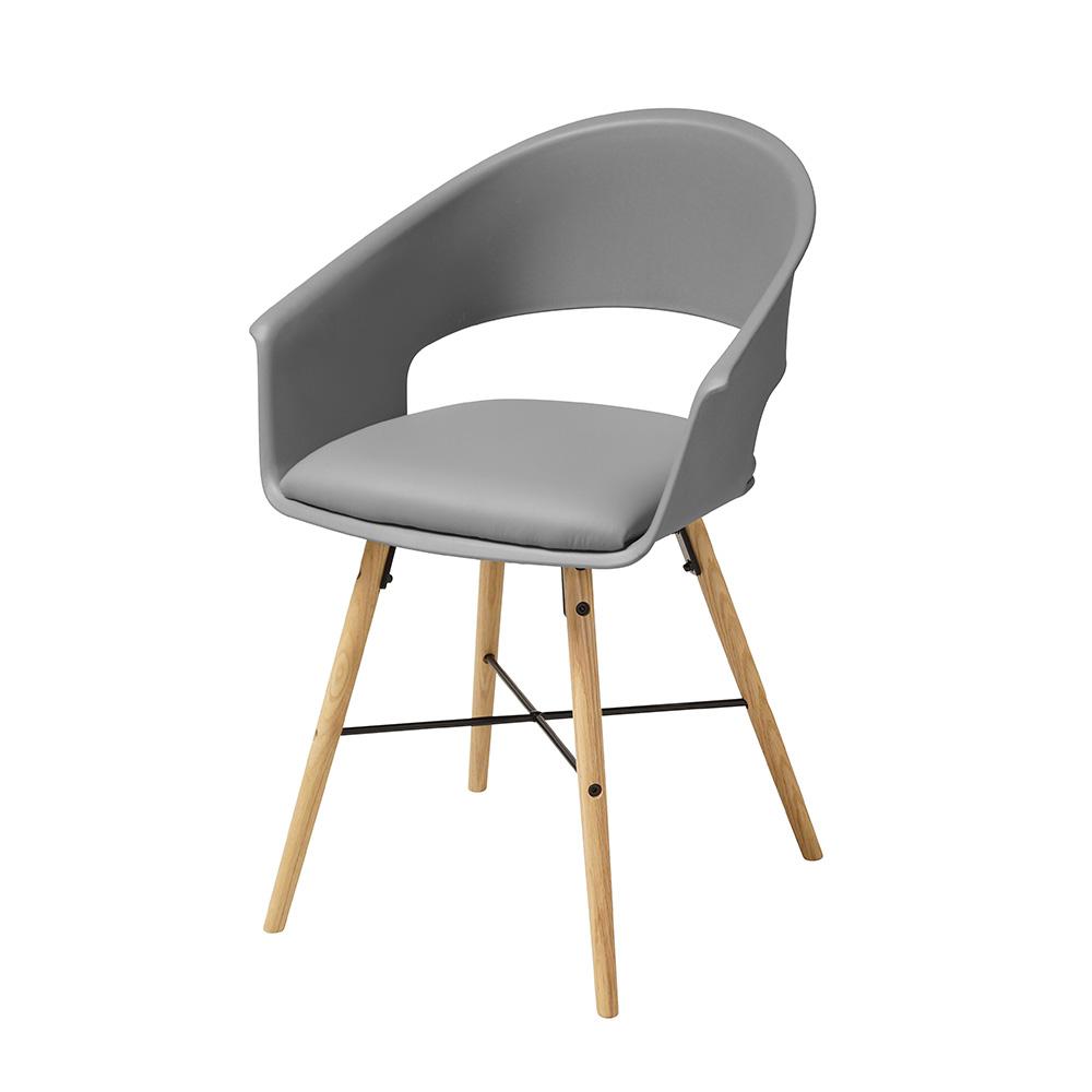 Jídelní židle Riva (SET 4 ks), šedá