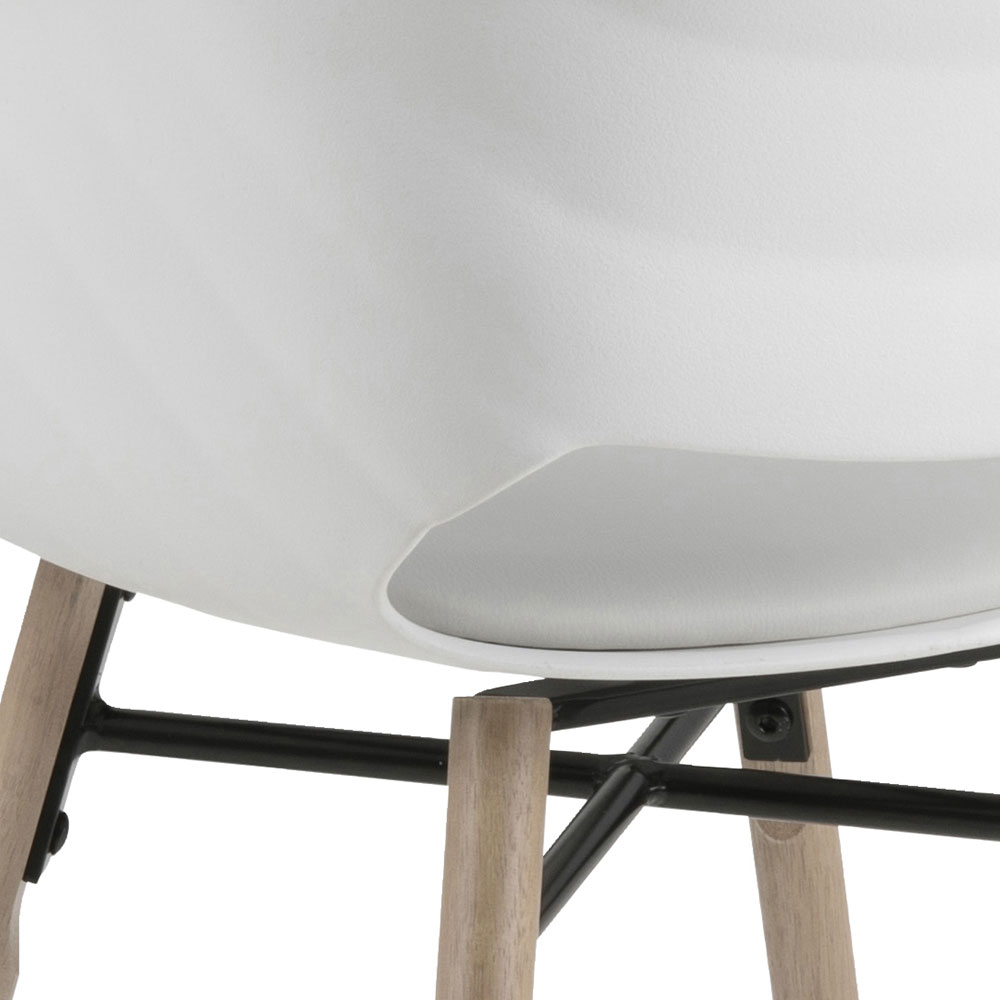 Jídelní židle Romana (SET 2 ks), bílá