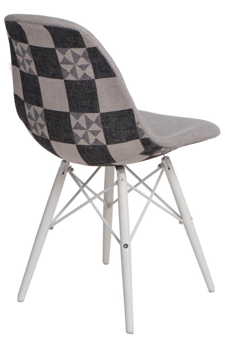 Jídelní židle s bílou podnoží Desire patchwork