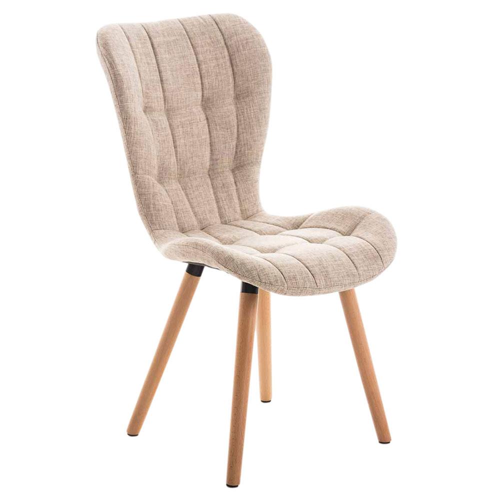 Jídelní židle s dřevěnou podnoží Adele (SET 2 ks)