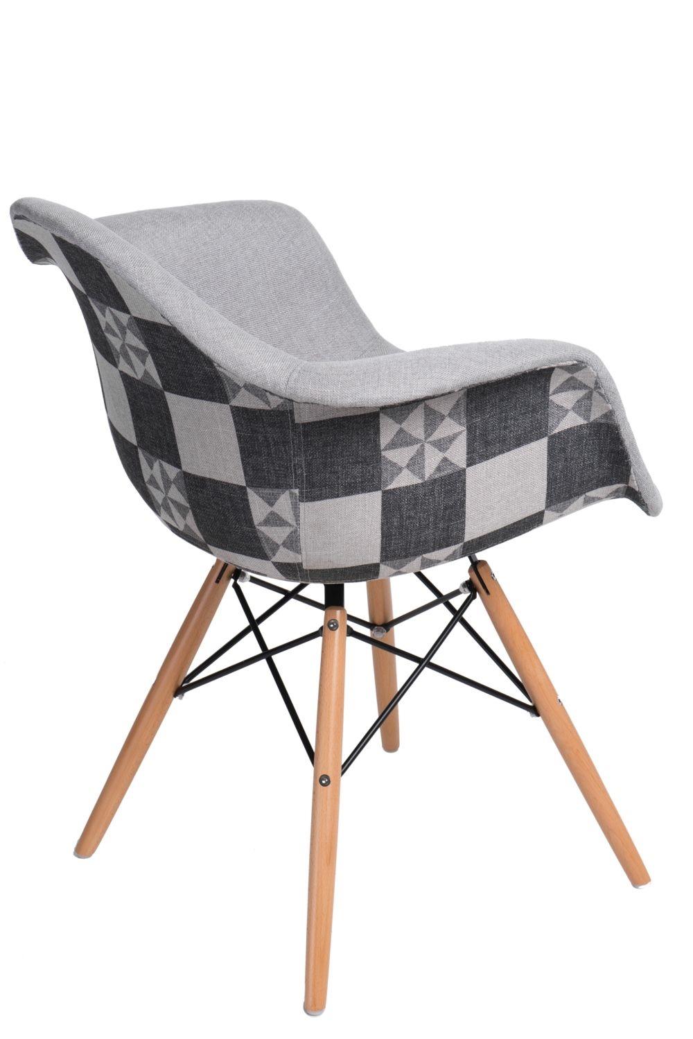 Jídelní židle s dřevěnou podnoží Blom patchwork