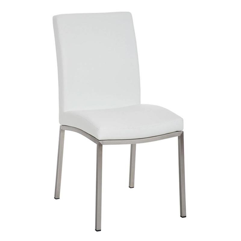 Jídelní židle s nerezovou podnoží Granny (SET 2 ks) šedá