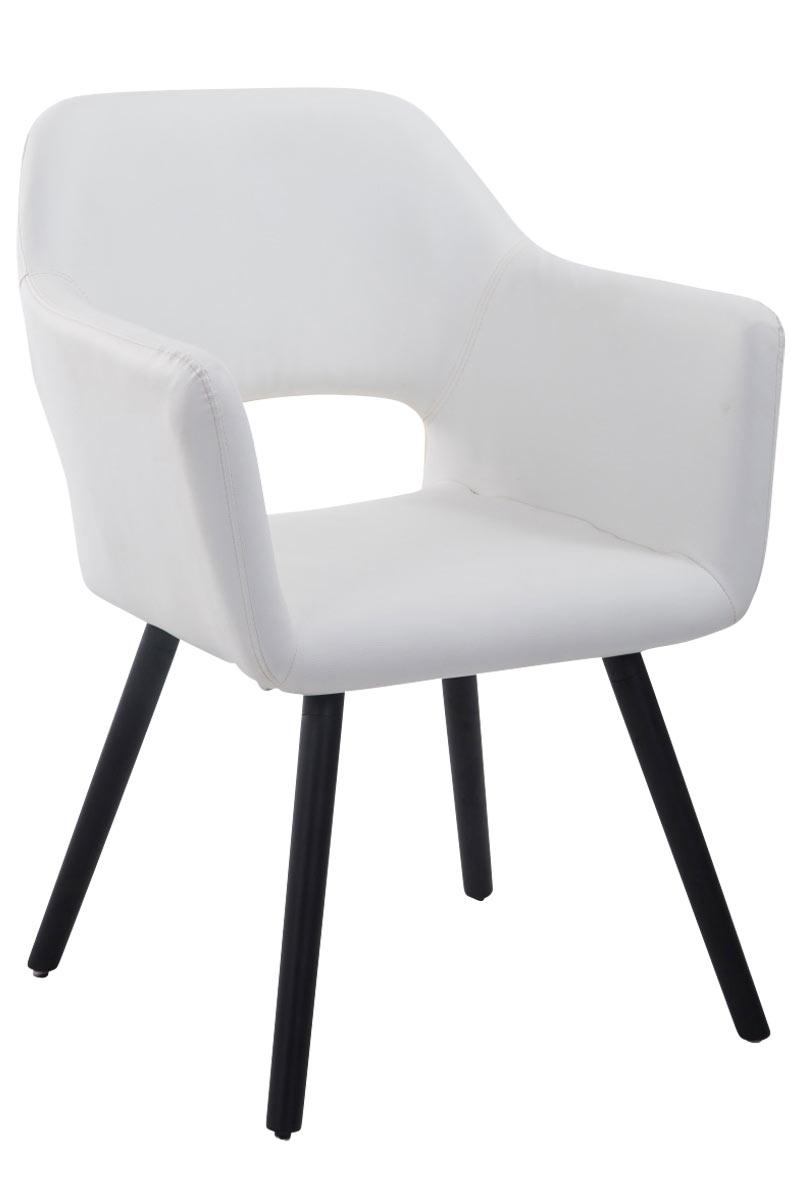Jídelní židle s područkami Arizona kůže, černé nohy