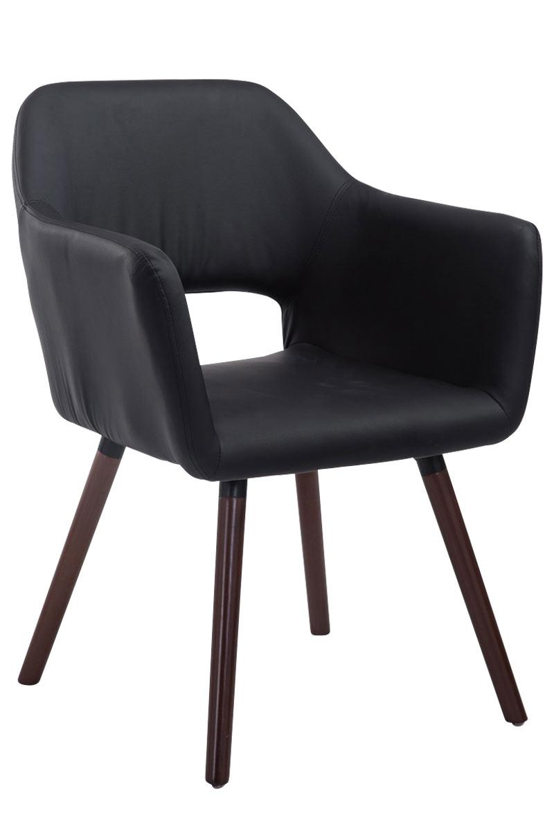 Jídelní židle s područkami Arizona kůže, nohy ořech černá