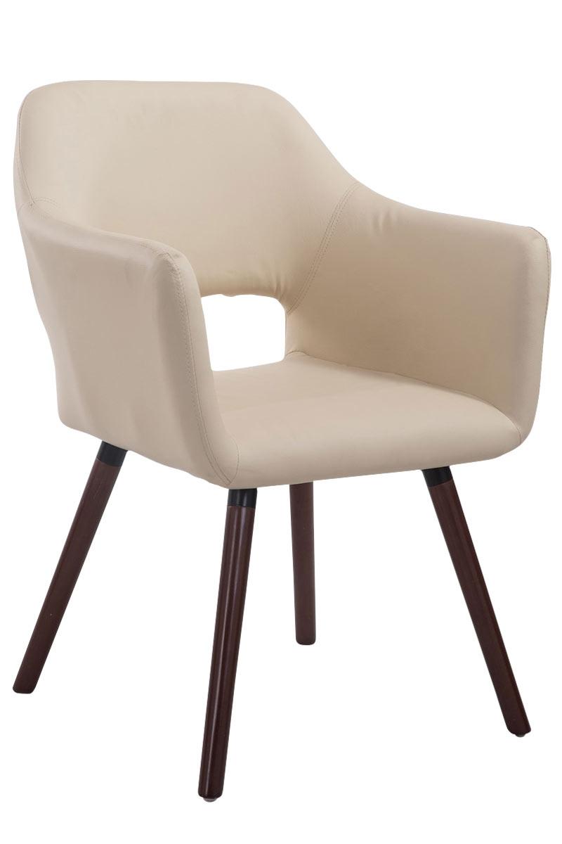 Jídelní židle s područkami Arizona kůže, nohy ořech hnědá
