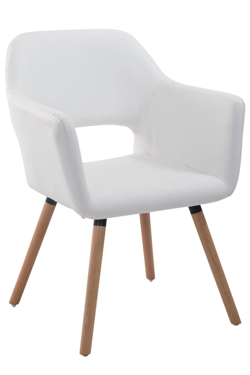 Jídelní židle s područkami Arizona kůže, přírodní nohy