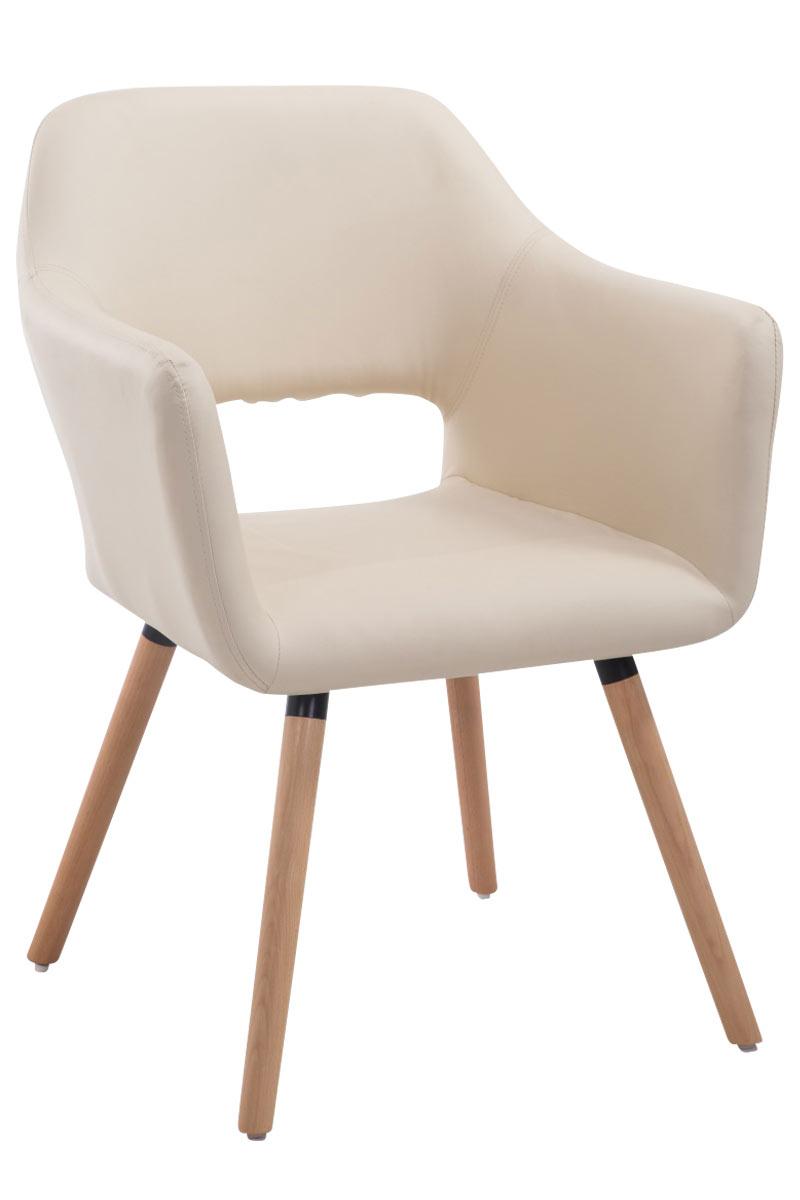 Jídelní židle s područkami Arizona kůže, přírodní nohy hnědá