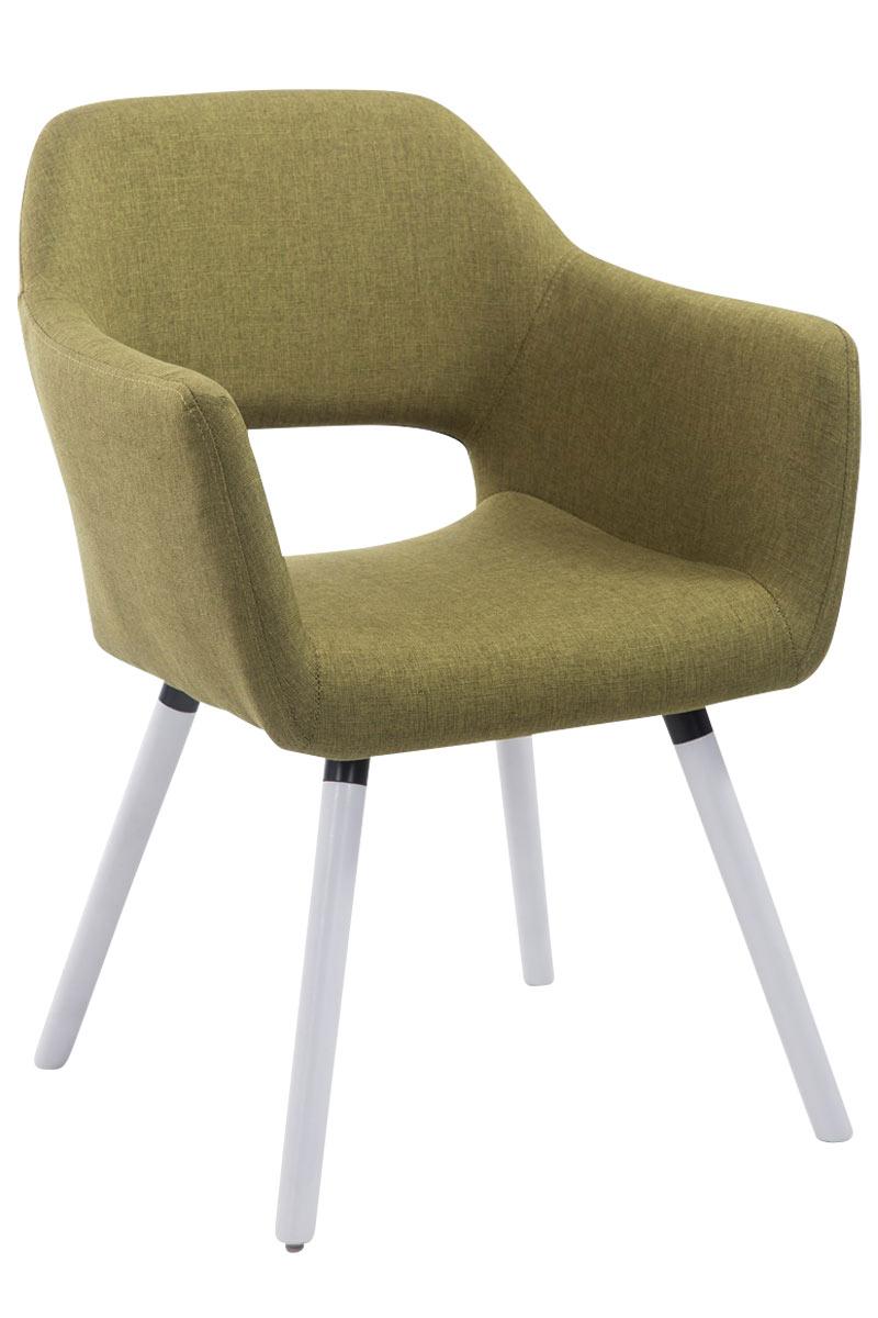 Jídelní židle s područkami Arizona textil, bílé nohy zelená
