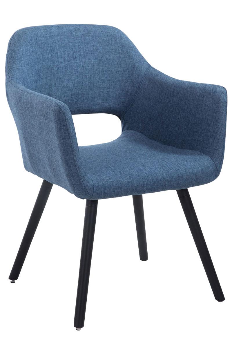 Jídelní židle s područkami Arizona textil, černé nohy