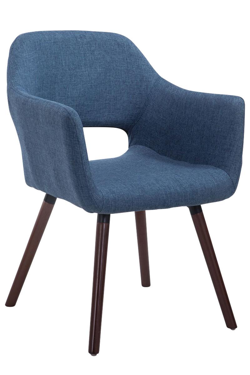 Jídelní židle s područkami Arizona textil, nohy ořech