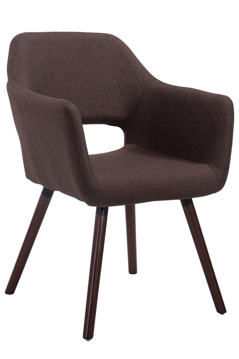 Jídelní židle s područkami Arizona textil, nohy ořech hnědá