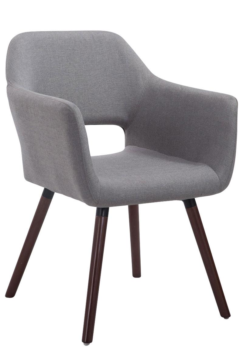 Jídelní židle s područkami Arizona textil, nohy ořech šedá
