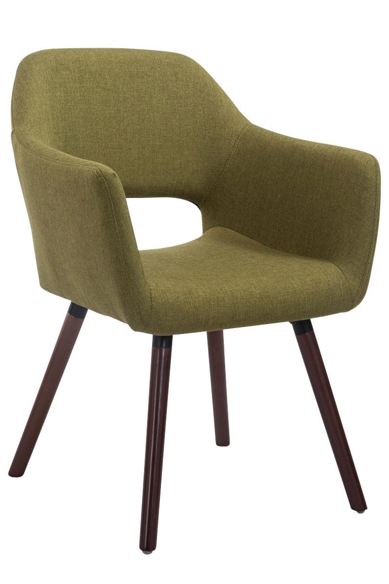 Jídelní židle s područkami Arizona textil, nohy ořech zelená